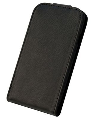 Tortoise™ Genuine Leather Flip Case Samsung Galaxy SIII Black