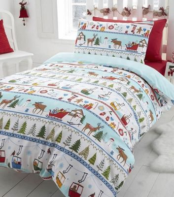 White Christmas, Festive King Size Bedding
