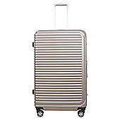 Tesco Chicago 8 Wheel Hard Shell Rose Gold Large Suitcase