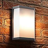 Auraglow Ultra Modern 10w LED Twin Lamp Garden Outdoor LED Wall Light - Warm White
