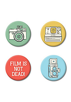 Film Is Not Dead Badge Pack - Multi