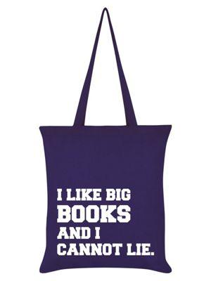 I Like Big Books And I Cannot Lie Purple Tote Bag 38x42cm
