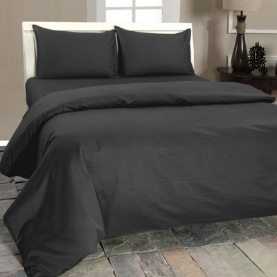 Homescapes Dark Grey Egyptian Cotton Flat Sheet 1000 Thread Count, Single