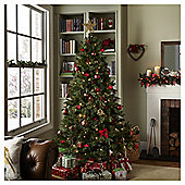6.5ft Luxury Pre-lit Regency Fir Christmas Tree (150 white LEDs)