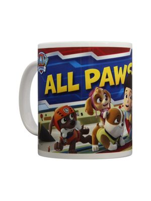 Paw Patrol Paws On Deck 10oz White Ceramic Mug