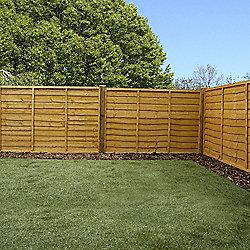 Mercia Waney Edge Lap Fence Panel 4ft Dipped