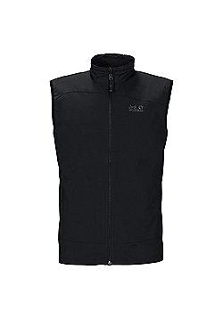 Jack Wolfskin Mens Activate Softshell Vest - Black
