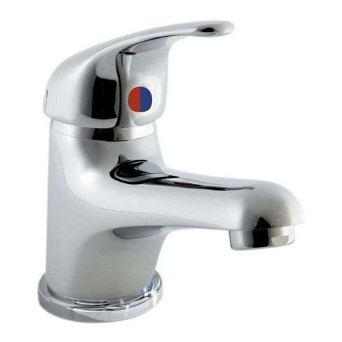 Ultra Eon Economy Single Lever Basin Mixer Tap with Push Button Waste