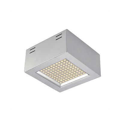 led Panel Surface Ceiling Light Square Silvergrey Downlight