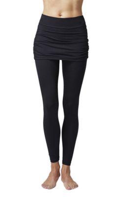 Figure Firming Slimming Shaping Gathered Skirt Leggings Black 2X