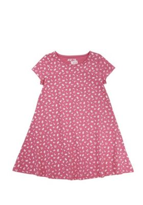 F&F Ditsy Floral Print Swing Dress Pink 5-6 years