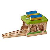 EverEarth Wooden Toy Engine Shed
