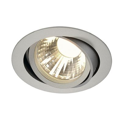 Tria LED Adjustable Disk Downlight Round Silvergrey