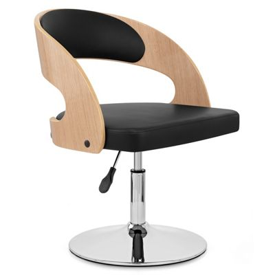Evelyn Chair Oak & Black