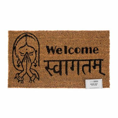 Homescapes Swagat Welcome Coir Doormat