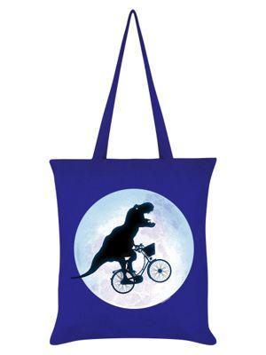 E.T-Rex Tote Bag Blue 38x42cm