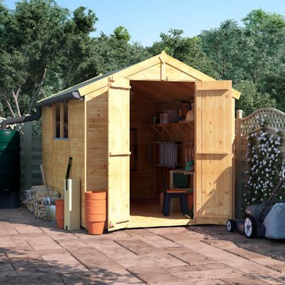 BillyOh Master Tongue and Groove Apex Wooden Garden Shed - 10 x 6 Windowed