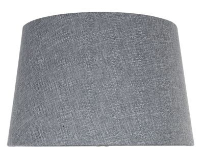 Grey Linen 13 Inch Empire Shade (Dual Fitting)