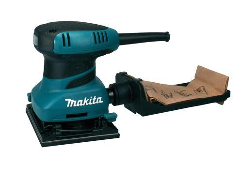 Makita BO4555 Hook & Loop/Clamp Palm Sander 200 Watt 240 Volt