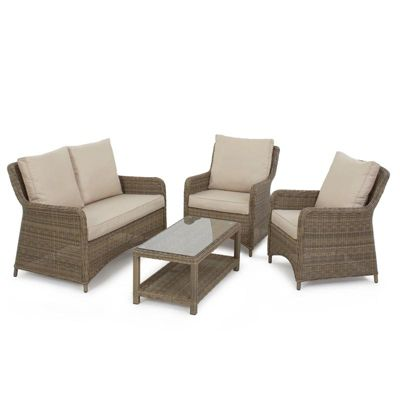 Maze Rattan - Winchester High Back Rattan Sofa Set