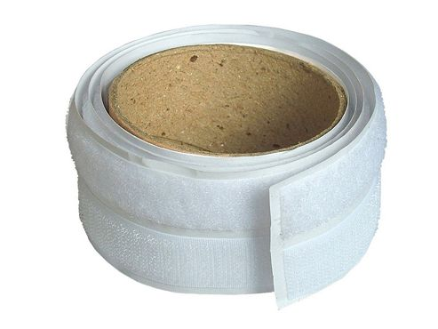 Faithfull Hook & Loop Self Adhesive Tape 20mm x 1m White