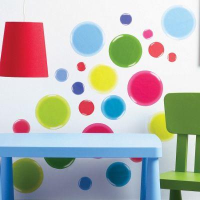3D Dotty Children's Wall Stickers