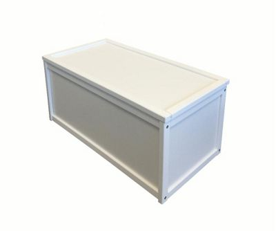 buy white wooden toy box chest box storage unit for kids. Black Bedroom Furniture Sets. Home Design Ideas