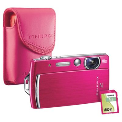 Fujifilm FinePix Z110 2.7 LCD Pink Digital Camera Bundle with matching coloured case and 4GB memory card