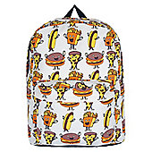 Yummy Fast Food Canvas Backpack