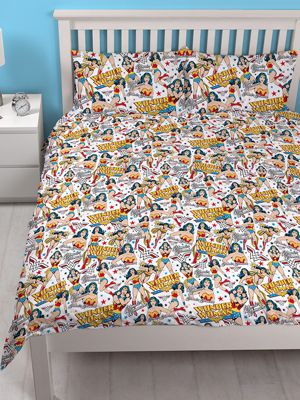 Wonder Woman Power Double Duvet Cover and Pillowcase Set