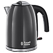 Russell Hobbs Colours 20414 Plus Jug Kettle, 1.7L - Grey