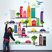 City Scape Giant Children's Wall Stickers