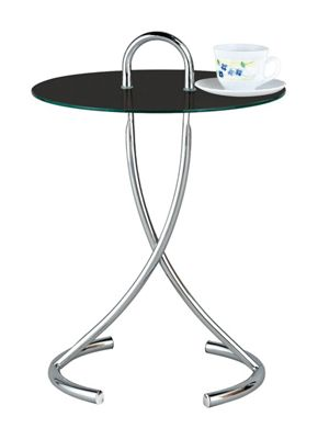 Lola Round Side Table - Black
