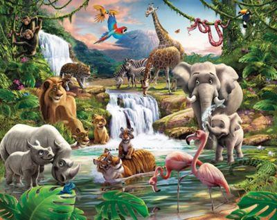 Walltastic Jungle Adventure Wall Mural 8 ft x 10 ft
