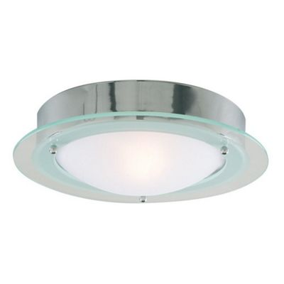 Stylish IP44 Bathroom Ceiling Light Fitting with Double Glass