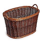 Oval Buff Wicker Log Basket