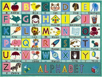 abc green alphabet rug 100 x 133 cm