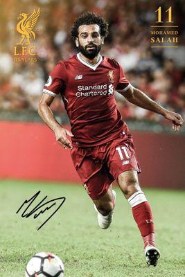 Liverpool FC Salah 17-18 Poster 61 x 91.5cm