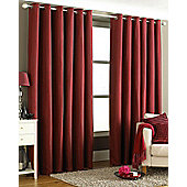 Tobago Ready Made Eyelet Curtains Burgundy 66x72