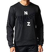 adidas New Zealand All Blacks College Crew Neck Sweater 2017 - Black