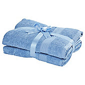 Tesco Hygro Cotton Bathroom Textiles - Blue