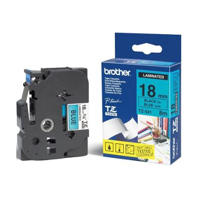 Brother 24 mm Labelling Tape Black/Blue