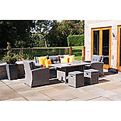 Slate Grey Barbados 6 Piece Relaxed Dining Set