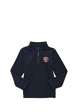 Unisex Embroidered Half Zip School Fleece - Navy