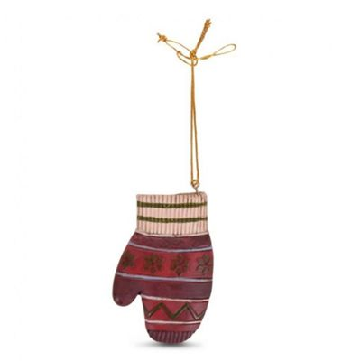 Hanging Resin Winter Clothing Christmas Tree Decorations - Glove