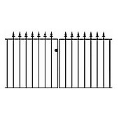 Wrought Iron Style Spear Top Driveway Gate 335x95cm