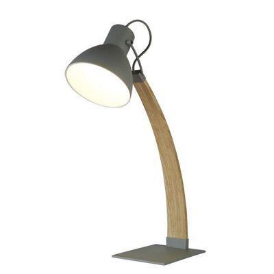 NANNA TABLE LAMP, ASH WOOD, MATT GREY
