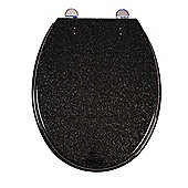 CROYDEX GLITTER ANTI BAC TOILET SEAT BLACK