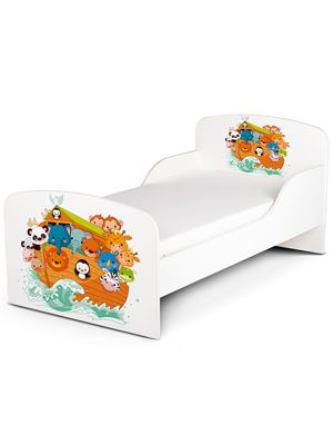 PriceRightHome Noah's Ark Animals Toddler Bed & Fully Sprung Mattress