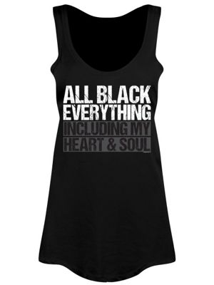 All Everything Including My Heart & Soul Floaty Women's Vest, Black.